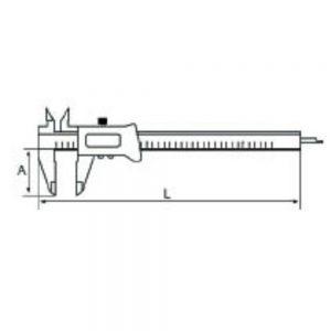 Ega Master Fiberglass Digital Caliper 150mm – 65489