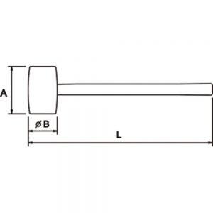 Ega Master Black Rubber Mallet Hammer 60-80mm