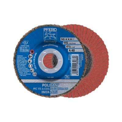 PFRED POLIFAN Flap Discs Performance Line A-COOL SG INOX + ALU Conical Type PFC