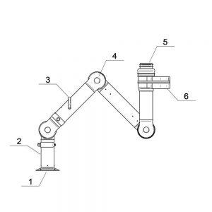 Nederman BenchTop Extraction Arm FX2 100 Original