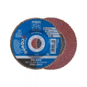 PFRED POLIFAN Flap Discs Performance Line A SG STEELOX Conical Type PFC