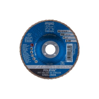 PFRED POLIFAN Flap Discs Performance Line A SG STEELOX Flat Type PFF