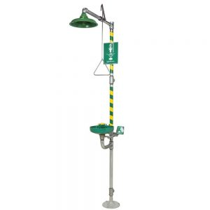 HAWS 8320-8325 AXIONMSR Emergency Shower and Eye/Face Wash – Green ABS Receptor