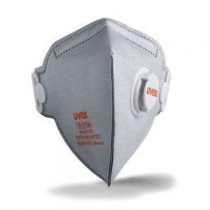 Uvex 8733220 SILV-AIR C 3220 FFP2 N95 Folding Mask with Valve