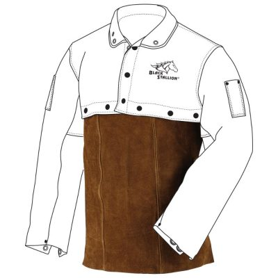 Black Stallion 14″ Split Cowhide Welding Bib-14WB