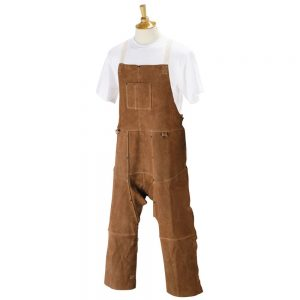 Black Stallion 48″ Split Cowhide Split-Leg Bib Apron-48SL