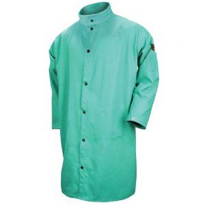 Black Stallion FR Cotton Shop Coat Green-F9-50C