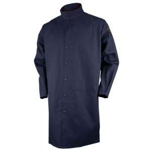 Black Stallion FR Cotton Shop Coat Navy-FN9-42C