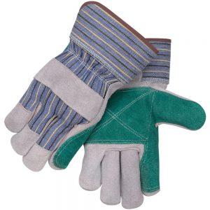 Black Stallion Padded Double Palm Split Cowhide 6DP Work Glove