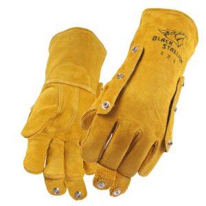 Black Stallion Split Cowhide 580 Stick Glove with FluxGuard Snaps