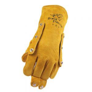 Black Stallion Split Cowhide 580LH Stick Glove with FluxGuard Snaps – Left Hand