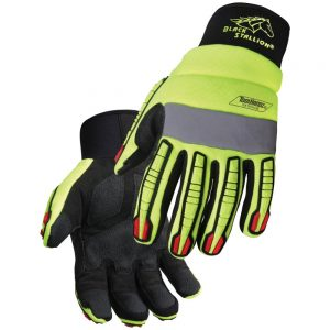 Black Stallion ToolHandz Hi-Vis Anti-Impact Mechanics Glove GX1010-HB