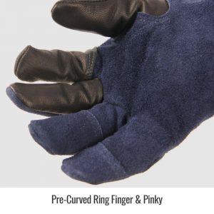 Black Stallion BSX Grain Goatskin & Flame-Resistant Stretch Knit Cotton GT7120-NB TIG Glove