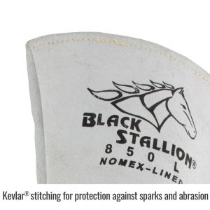 Black Stallion Elkskin 850 Stick Glove with Nomex Lined Back