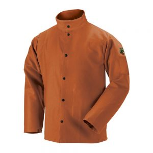 Black Stallion TruGuard 200 FR Cotton Welding Jacket, Brown-FB2-30C