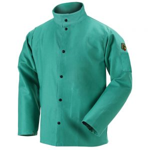 Black Stallion TruGuard 200 FR Cotton Welding Jacket, Green – F9-30C