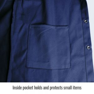 Black Stallion TruGuard 200 FR Cotton Welding Jacket, Navy-FN9-30C