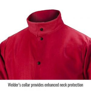 Black Stallion TruGuard 200 FR Cotton Welding Jacket, Red-FR9-30C