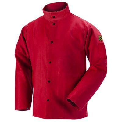 Black Stallion TruGuard 200 FR Cotton Welding Jacket, Red-FR9-30C