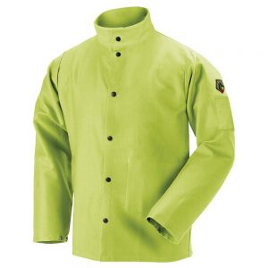 Black Stallion TruGuard 200 FR Cotton Welding Jacket, Safety Lime – FL9-30C