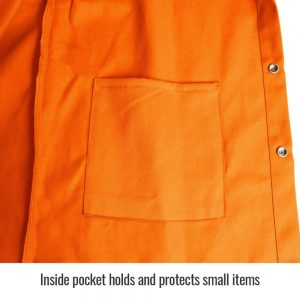 Black Stallion TruGuard 200 FR Cotton Welding Jacket, Safety Orange – FO9-30C