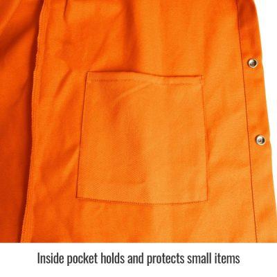 Black Stallion TruGuard 200 FR Cotton Welding Jacket, Safety Orange – FO9-30C