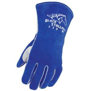 Black Stallion Side Split Cowhide 320 Stick Glove with CushionCore Liner